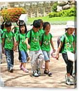 School Children In Gyeongju Korea Canvas Print