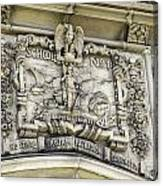 School Crest Canvas Print