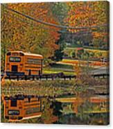 School Days Of Autumn Canvas Print
