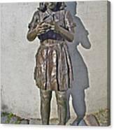 School Girl Sculpture In Saint John's-nl Canvas Print