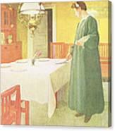 School Household, Dining Room Scene Canvas Print