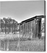School Outhouse Canvas Print