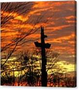 School Totem Pole Sunrise Canvas Print