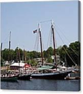 Schooner - Camden Harbor - Maine Canvas Print