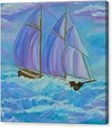 Schooner On The High Seas Canvas Print