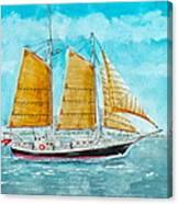 Schooner Spirit Of Independence Canvas Print