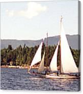 Schooner Under Sail Canvas Print