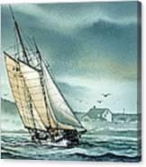 Schooner Voyager Canvas Print