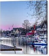 Schuylkill River And Boathouse Row Philadelphia Canvas Print