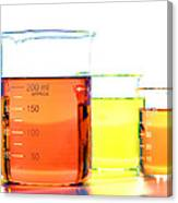 Scientific Beakers In Science Research Lab Canvas Print