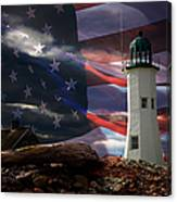 Scituate Strong Protecting American Shoreline Canvas Print