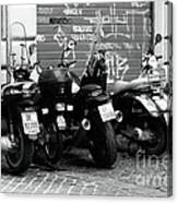 Scooter Plates Canvas Print