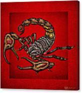 Scorpion On Red Canvas Print