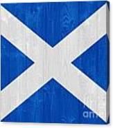Scotland Flag Canvas Print