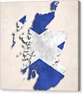 Scotland Map Art With Flag Design Canvas Print