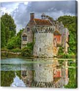 Scotney Castle Reflections Canvas Print
