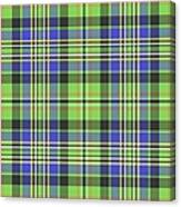 Scott Ancient Green Tartan Canvas Print