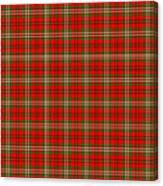 Scott Red Tartan Variant Canvas Print