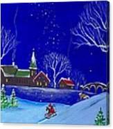 Scottie Sleigh Ride Canvas Print