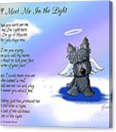 Scottie Terrier Angel And Poem Canvas Print