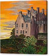 Scottish Gardens At Sunset Canvas Print