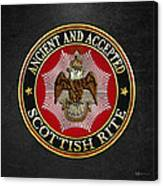 Scottish Rite Double-headed Eagle On Black Leather Canvas Print