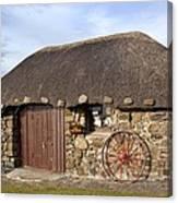Scottish Thatched Cottage Canvas Print