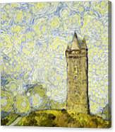 Starry Scrabo Tower Canvas Print