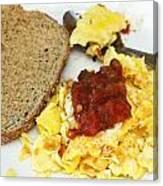 Scrambled Eggs And Salsa Canvas Print