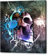 Scrap Skull Canvas Print