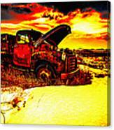 Junk In The Afternoon Sun Canvas Print