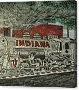 Scrapping Hoosiers Indiana Monon Train Canvas Print