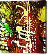 Scrawled Canvas Print
