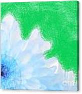 Scream And Shout Blue White Green Canvas Print