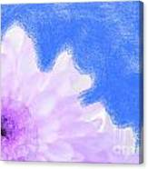 Scream And Shout Purple White Blue Canvas Print
