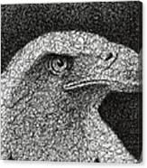 Scribble Eagle Canvas Print