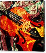 Scribbled Fiddle Canvas Print