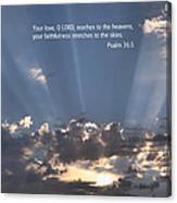 Scripture And Picture Psalm 36 5 Canvas Print