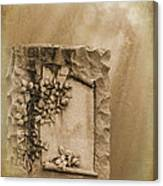 Scroll And Flowers The Forgotten Series 12 Canvas Print