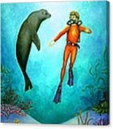 Scuba Diver One Canvas Print