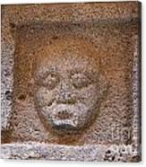 Sculpted Face At Bosra Syria Canvas Print