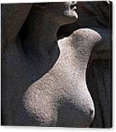 Sculpture Of Angelic Female Body Canvas Print