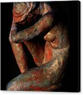 Sculpture Of Nude Woman Canvas Print
