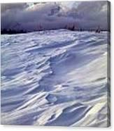 1m9347-sculptured Snow And Grand Teton Canvas Print