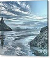 Sculptures On The Shore Canvas Print