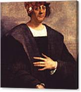 Scumbag Columbus Canvas Print