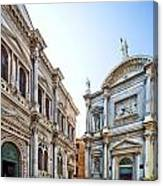 Scuola Grande Di San Rocco And San Rocco Church Canvas Print