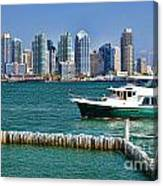 Sd Bay Canvas Print