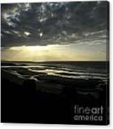 Sea And Stormy Sky Canvas Print