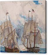 Sea Battle-war Of 1812 Canvas Print